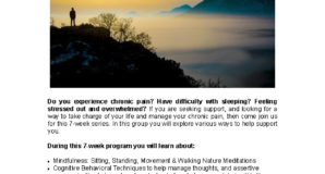 Mindfulness for Chronic Pain